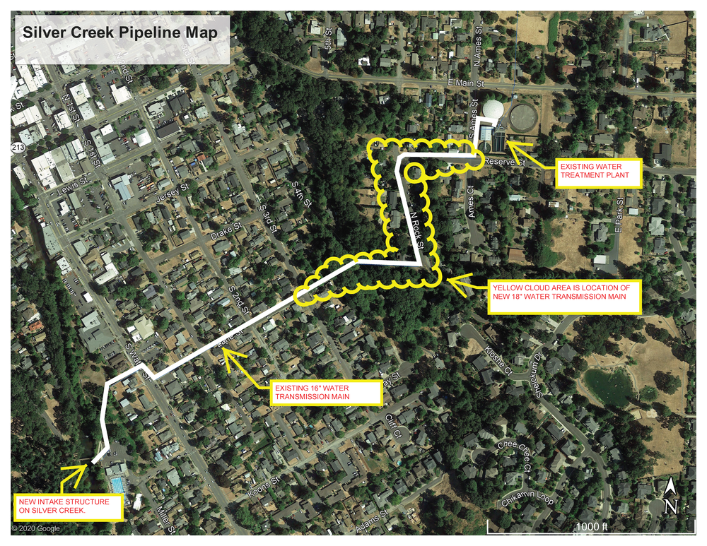 Silver Creek Raw Water Pipeline Map